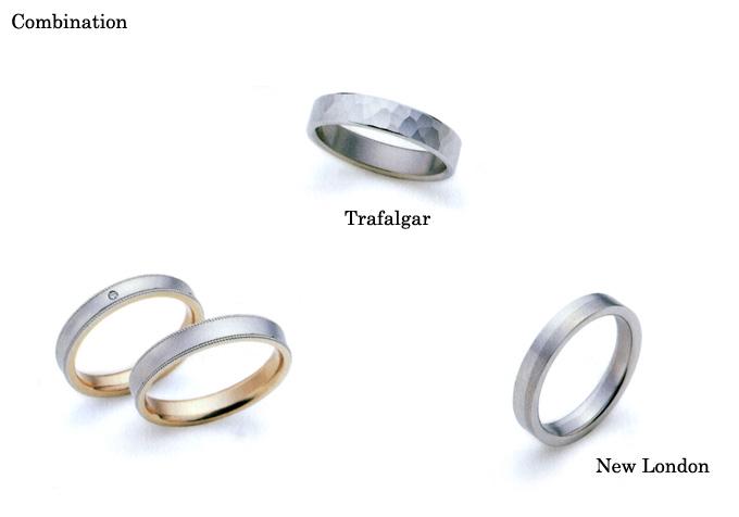 結婚指輪 マリッジリング 《ダックス・コンビネーション (DAKS Marriage Pair Ring; Combination )》 英国老舗ブランド