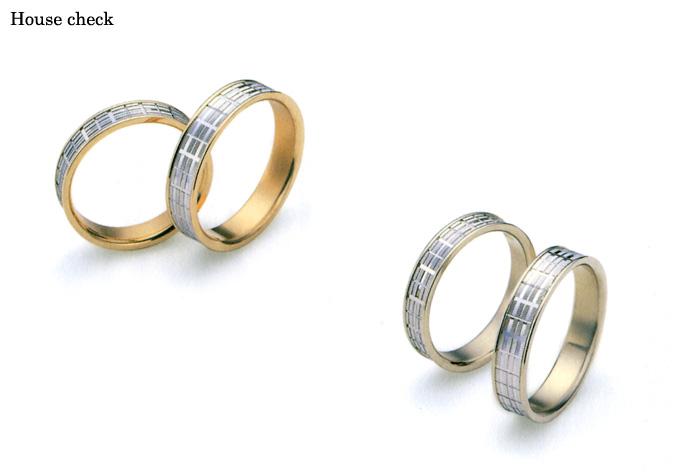 結婚指輪 マリッジリング 《ダックス・ハウスチェック (DAKS Marriage Pair Ring; House check )》 英国老舗ブランド